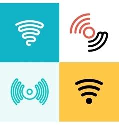 Wifi logo set Wifi zone vector image vector image