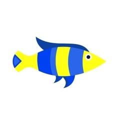 Abstract aquarium fish underwater nature vector image