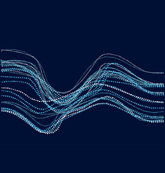 abstract river water concept dynamic emitted vector image