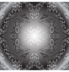 black white vintage wallpaper vector image