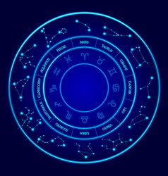 constellations set twelve signs of the vector image vector image