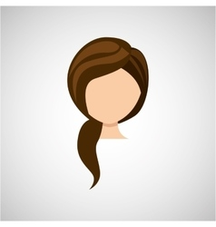 female hairstyle design vector image