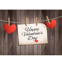 Happy valentines day background with hearts vector