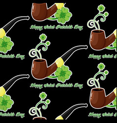 seamless background for patricks day with simbol vector image
