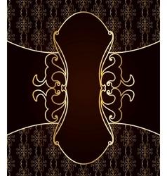 Vintage art brown background vector image
