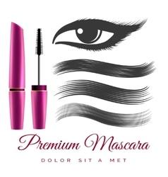 Woman black mascara vector image