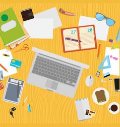 Art creative office workplace vector