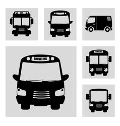 bus transportation design vector image