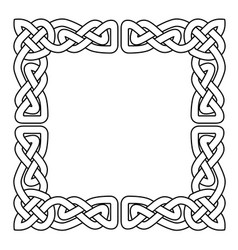celtic national seamless ornament interlaced tape vector image vector image