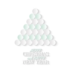Creative Christmas tree consists from 3d paper vector image