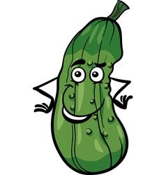 cute cucumber vegetable cartoon vector image vector image