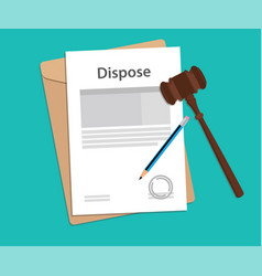 Dispose text on stamped paperwork vector
