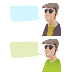 Man with Flat Caps vector image