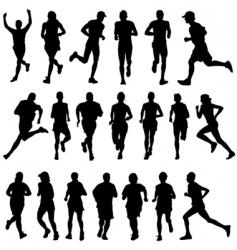 runner people vector image vector image