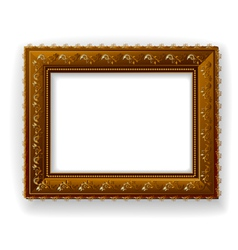 wooden vintage frame isolated vector image vector image