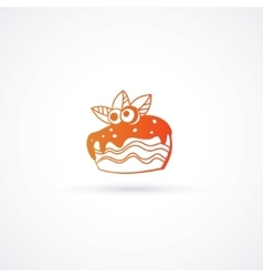 Cupcake icon isolated vector image vector image