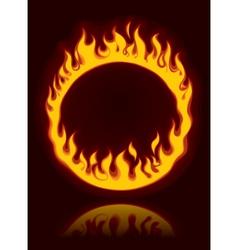 Fiery ring vector