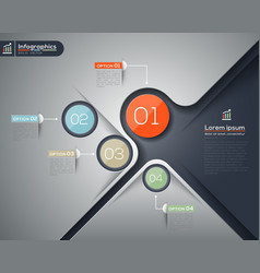 Modern business infographics graphic design layout vector image