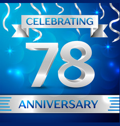 Seventy eight years anniversary celebration design vector