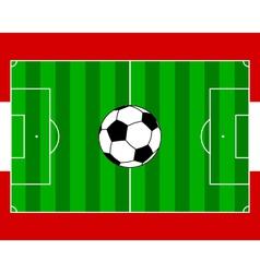 Soccerfield Austria vector image vector image