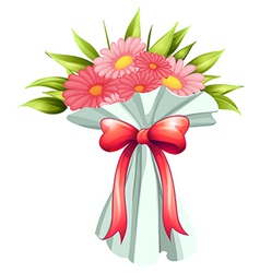 A boquet of pink flowers vector