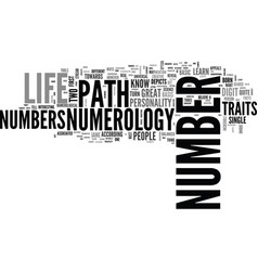 a very simple guide to learn numerology text word vector image