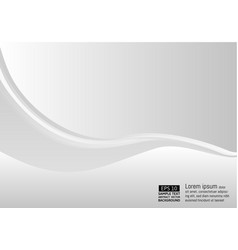 abstract background wave white and gray color vector image