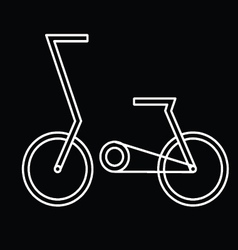 abstract bicycle vector image