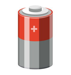 alkaline electric battery icon cartoon style vector image