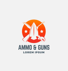 ammo and guns abstract icon symbol or logo vector image