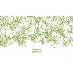 Argan tree pattern bio food organic oil vector
