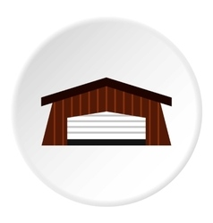 Barn icon flat style vector image