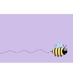 Bee flight background vector