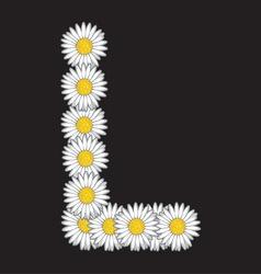 bele rade slova L vector image