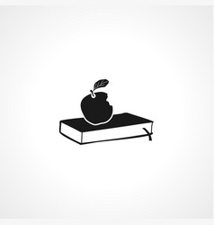 Book icon aple on simple icon aple on vector