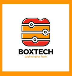 box tech logo vector image