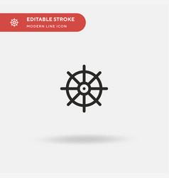Buddhism simple icon symbol vector