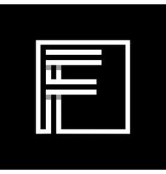 Capital letter F Monogram logo emblem vector