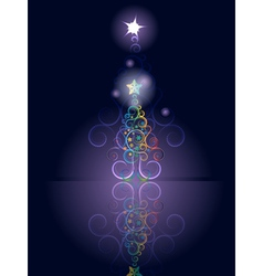 Card with Decorative Christmas Tree3 vector image