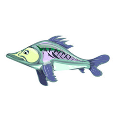 cartoon fish drawing by hand vector image