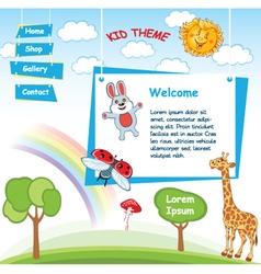 Cartoon kid template vector image