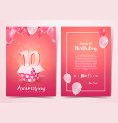 celebration 10 th years birthday vector image