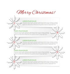 Christmas infographic vector image vector image