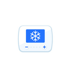 Cooling control sytem icon vector