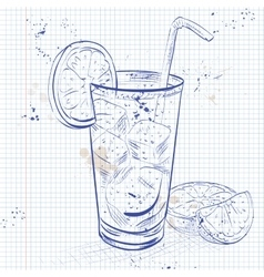 Cuba Libre on a notebook page vector image