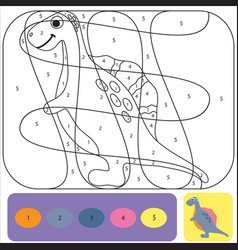 cute dino coloring page for kids printable design vector image