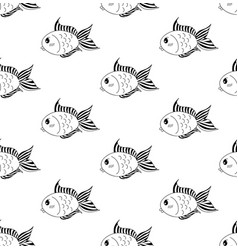 cute goldfish on white background vector image