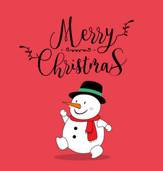 cute snow christmas greeting card vector image