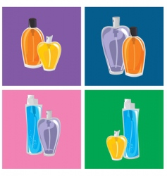 Different perfumes vector