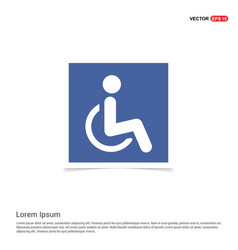 disabled person icon - blue photo frame vector image